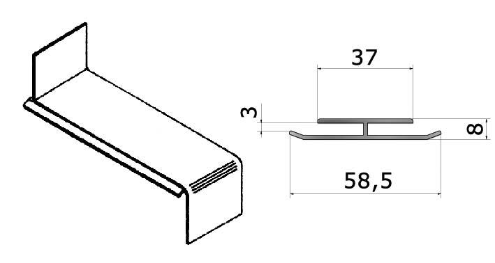 Fensterbank Verbinder Stoßverbinder Aluminium Guntia